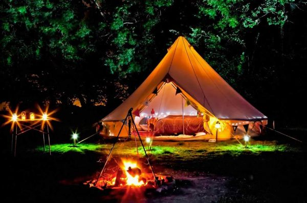 Glamping in magical woods