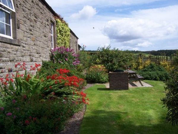 Garden at Dene View Cottage is near Alnwick Castle