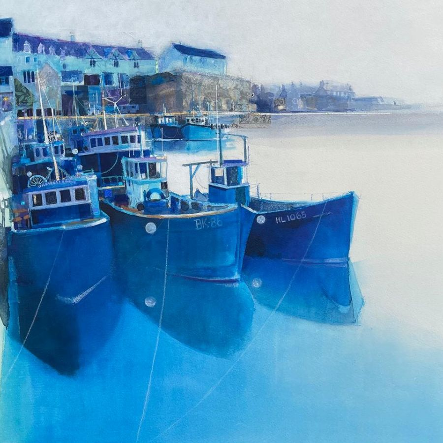 Nicole Stevenson   Shades of Blue - Original Paintings at Dockside Gallery