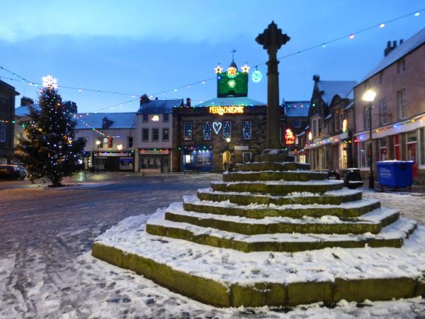 Alnwick Market Place at Christmas