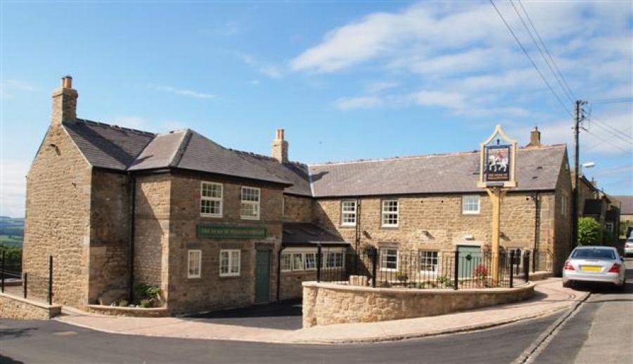 Outside the Duke of Wellington Inn near Corbridge