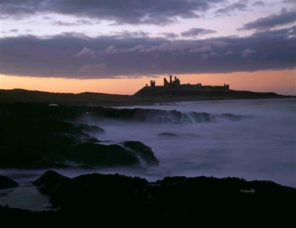 Dunstanburgh Castle from the walk from Craster