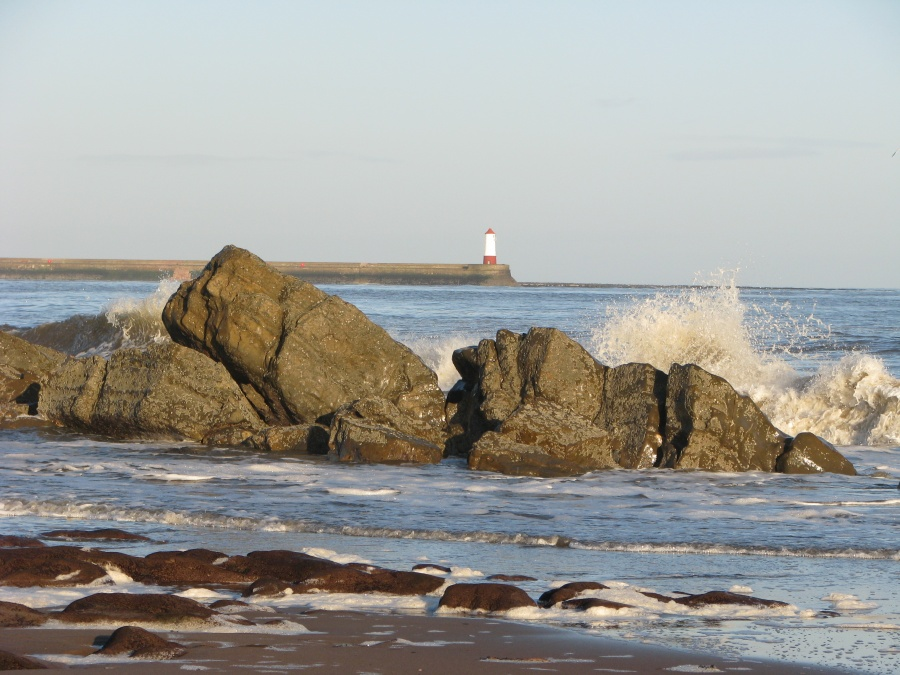 Lighthouse from Spittal beach