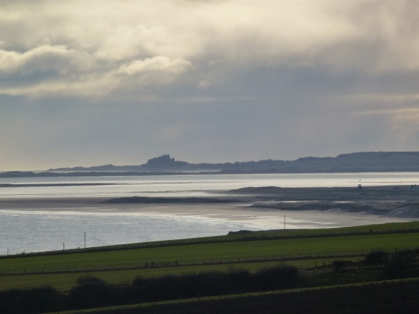 View from park to Holy Island