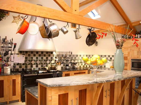 Kitchen/Party Room at Falstone Farmhouse is near Kielder Water & Forest Park