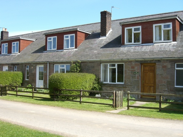 Outside Fenham le Moor Cottages