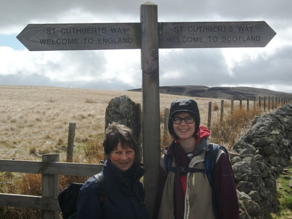 Crossing the Border on St. Cuthbert's Way, a favourite spot