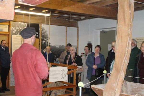 Dave the Miller taking a group tour round Heatherslaw Cornmill
