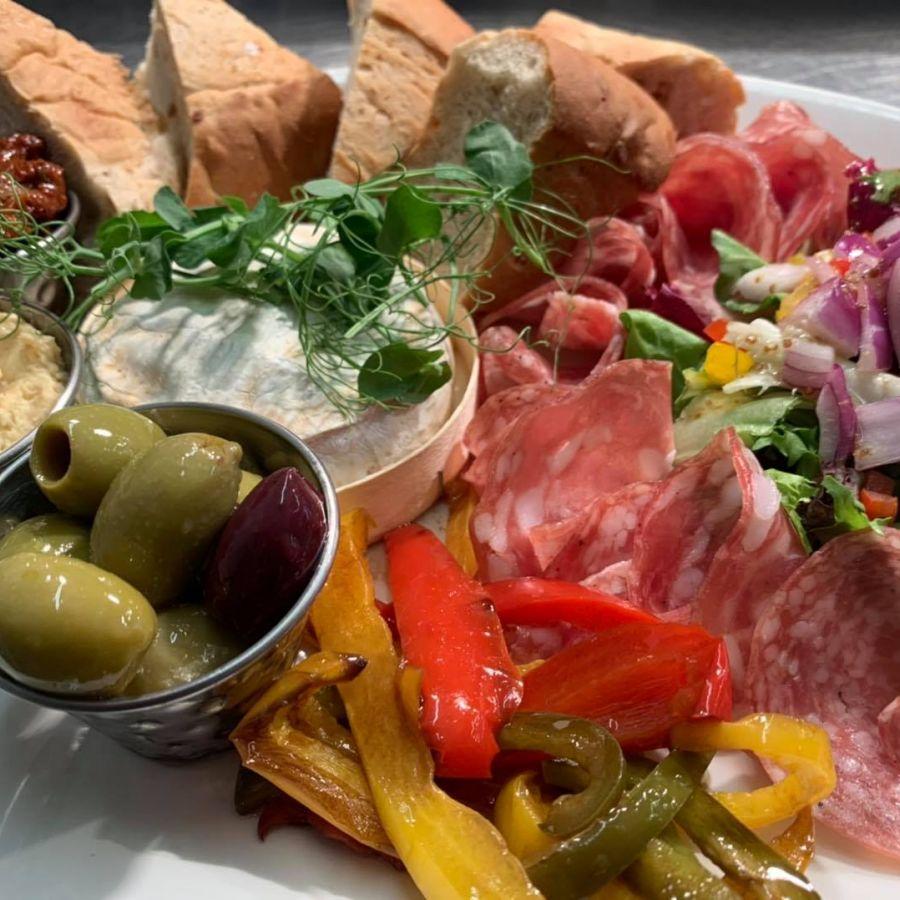 Sharing platters add wine!