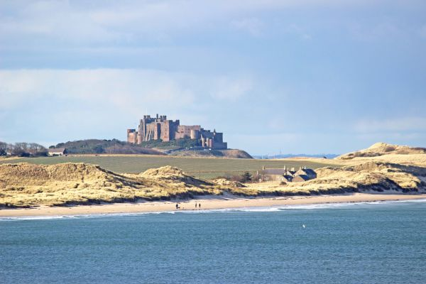 Gable Cottage, Seahouses, view of Bamburgh Castle