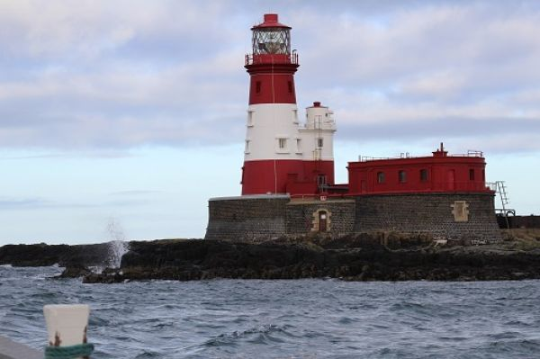 Approaching the Longstone Lighthouse