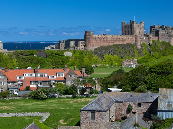 A view of Bamburgh is near Billy Shiel Farne Islands Boat Trips