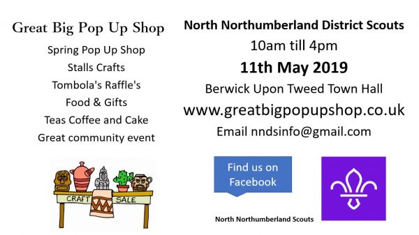 Great Big Pop Up Shop Scout Fund Raiser