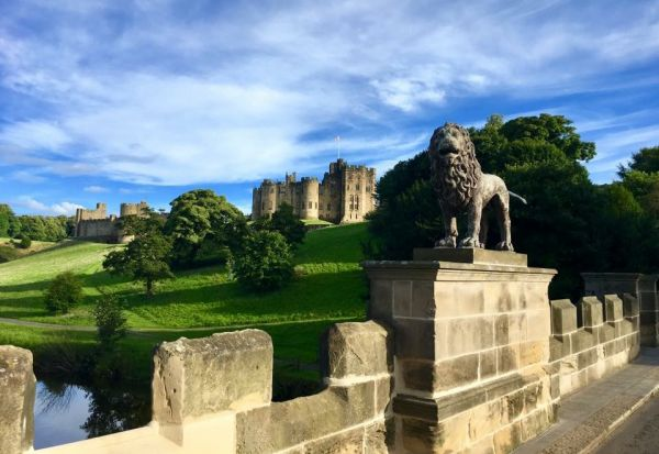 Alnwick Castle and Lion Bridge