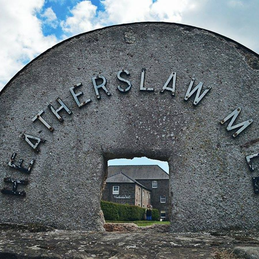 Heatherslaw through the mill wheel © D Chapman