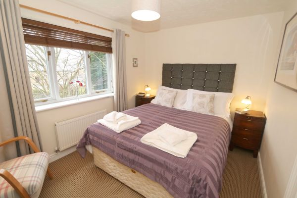 Hedgehope, Alnwick, master bedroom with views of Alnwick Castle