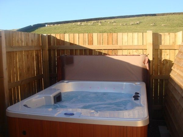 Hot tub outside your wigwam