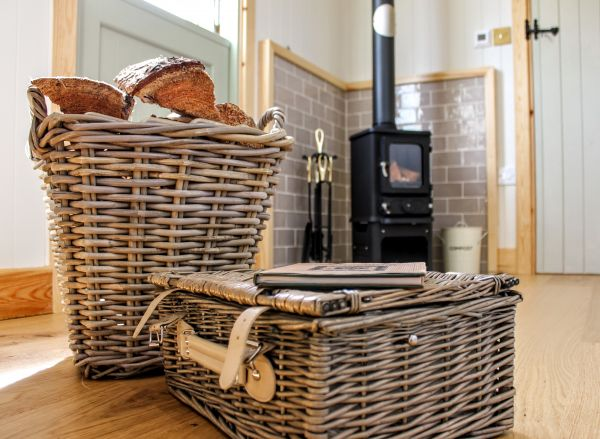 A picnic basket ready for our guests