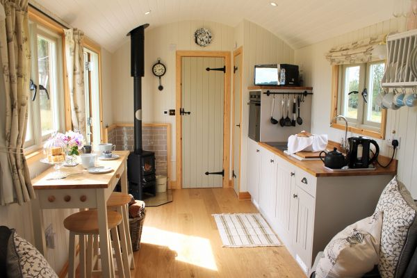 Inside The Shepherd's Hut is near St Cuthbert's Cave