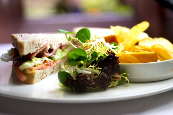 Sandwich & Fries from the All Day Dining menu
