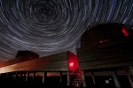 Star trails is near Magnificent Milky Way