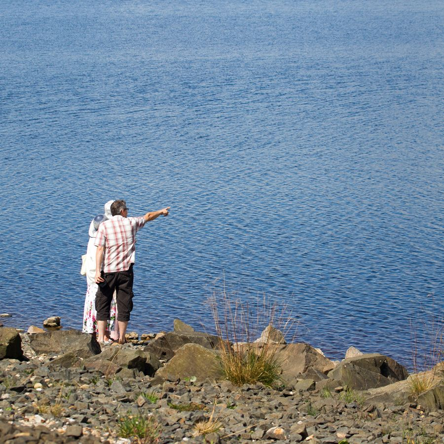 Views across the reservoir