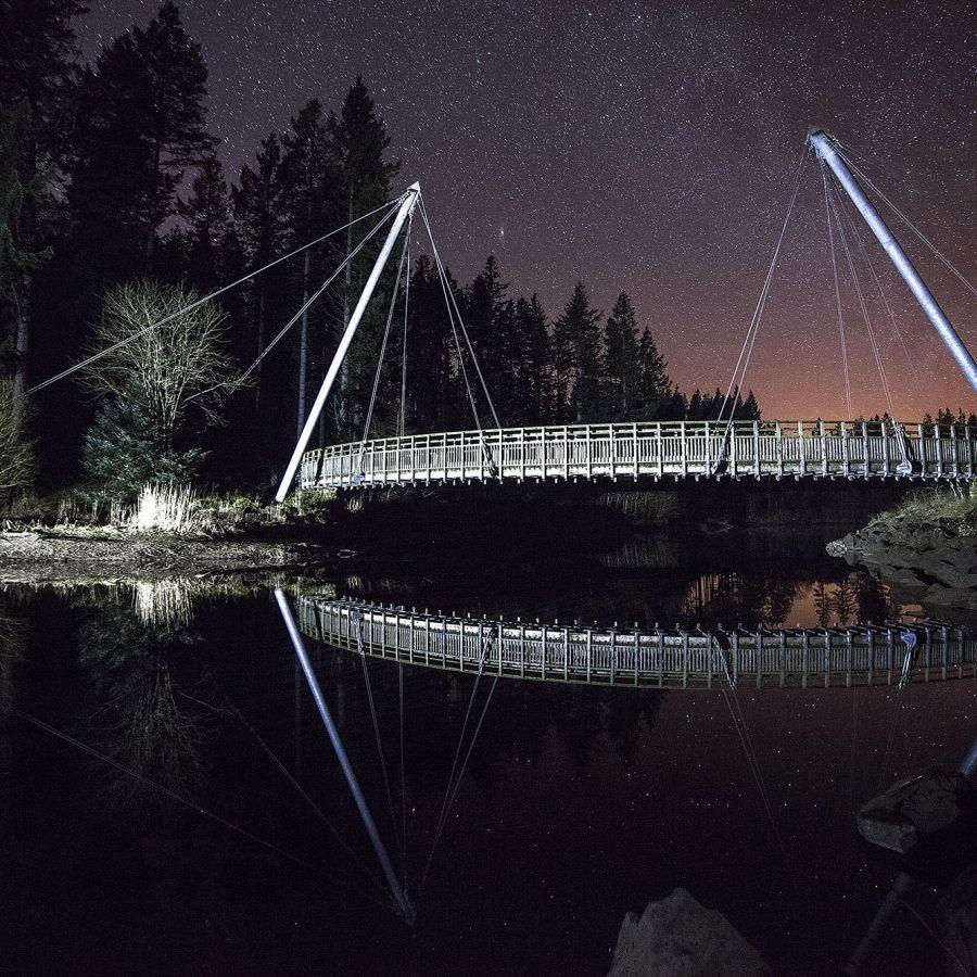 Kielder Lewisburn bridge under the stars