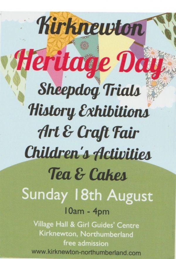 Kirknewton Heritage Day with Sheepdog Trials and Arts and Crafts fair