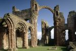 Lindisfarne Priory is near Dolphin Dream Cottage