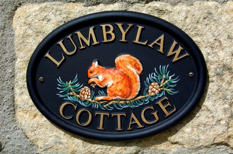 Lumbylaw Cottage sign