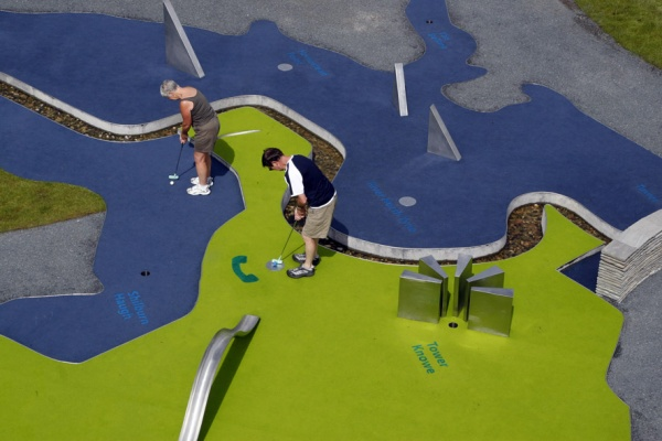 Mapping minigolf at Kielder is near Wilderness Survival Challenge 8 to 13s