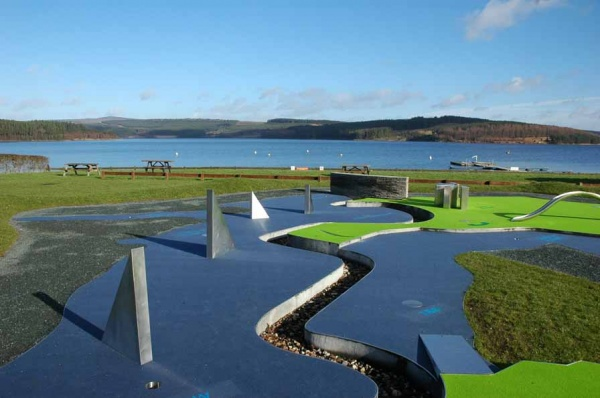 Mini golf at Kielder