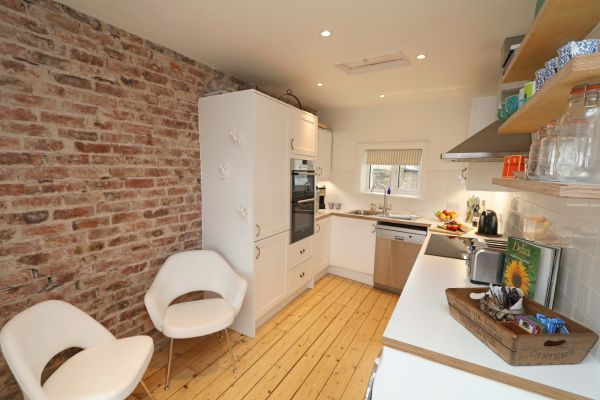 Mariners House, Alnmouth, modern kitchen