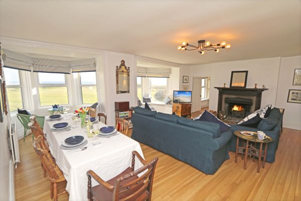 Mariners House, Alnmouth - open plan living area