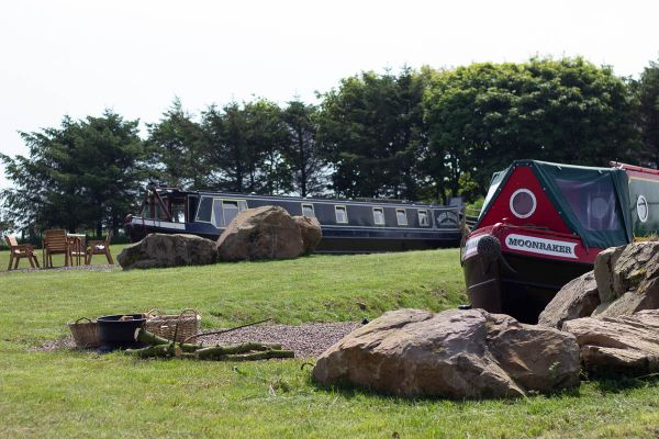 Longboats at Middlemoor Farm