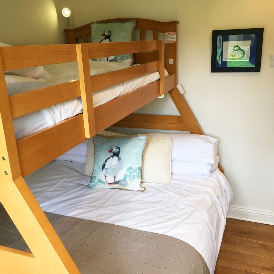 Triple bunk bedroom