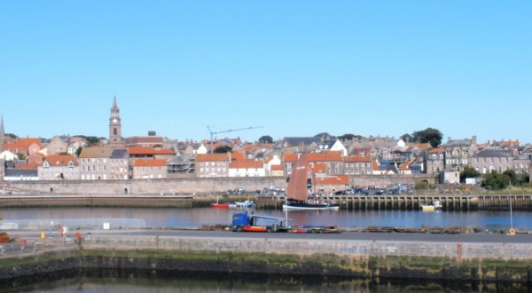 Berwick walls from the window is near Union Chain Bridge