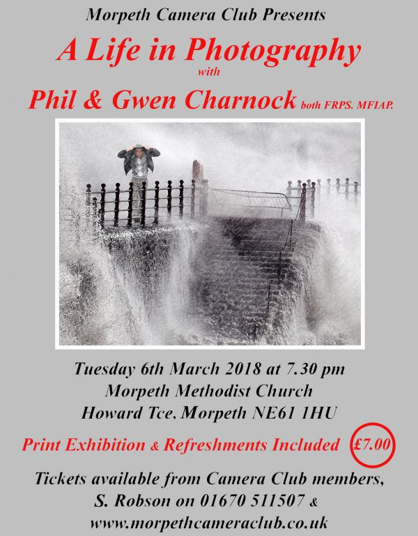 Morpeth Camera Club Annual Event with Gwen & Phil Charnock,