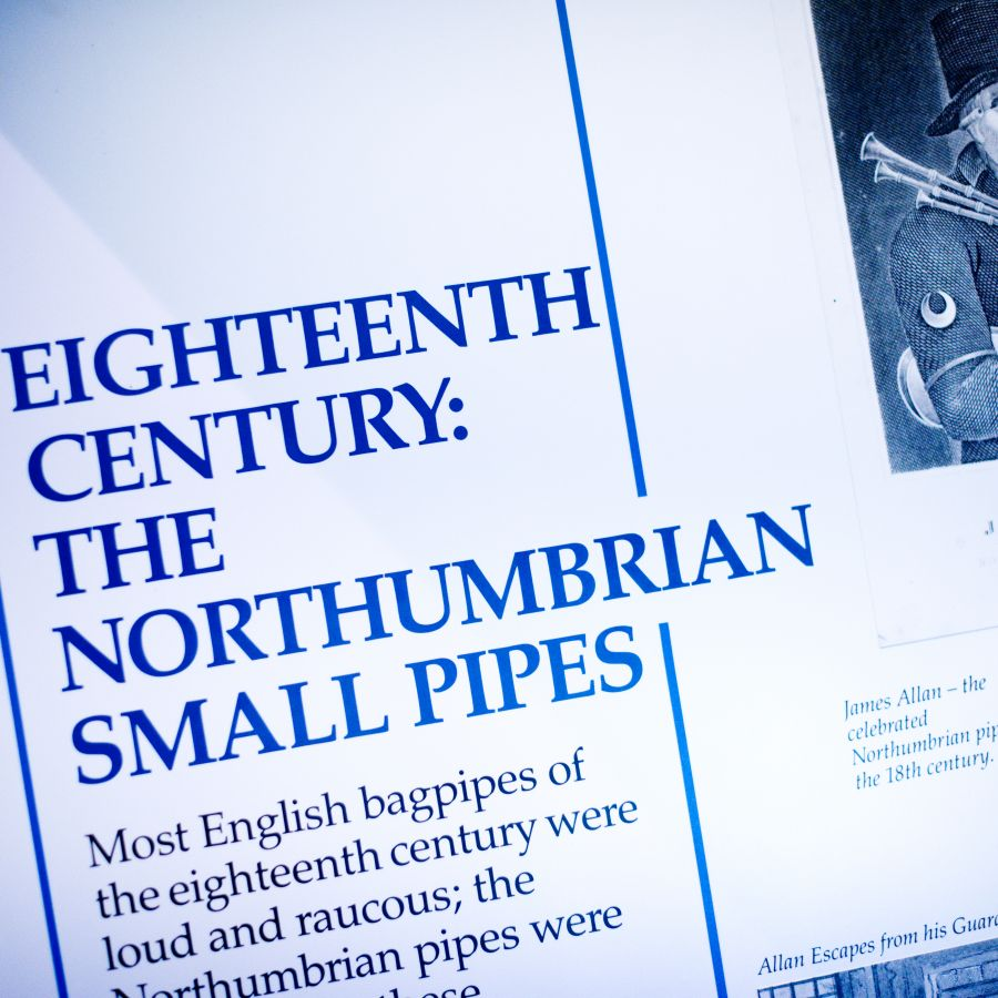 Northumberian Pipes Exhibition Panel