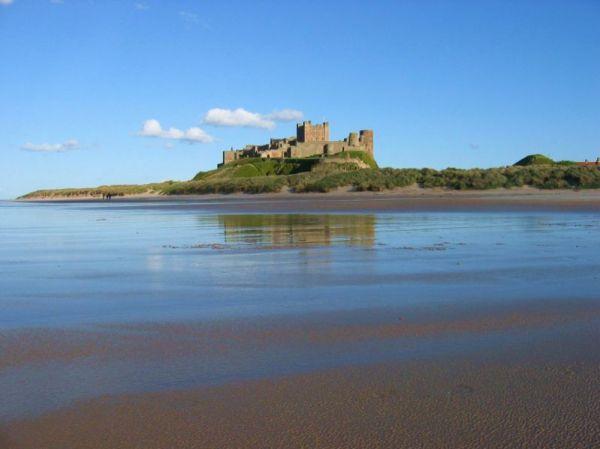 Bamburgh Castle and coast