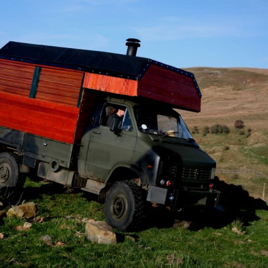 The Wild Food Wagon, our mobile kitchen for cooking the days harvest