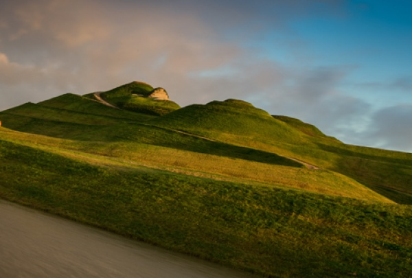 Northumberlandia near Cramlington is near Burradon Farm Houses & Cottages