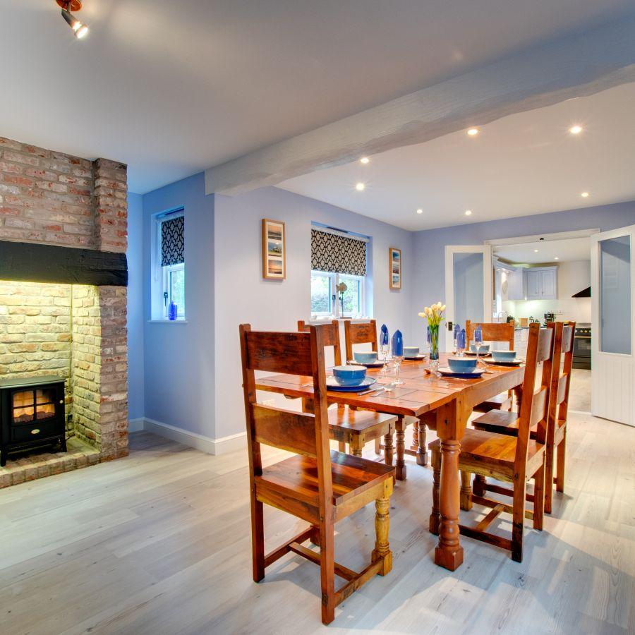 Blue Poppy House dining room