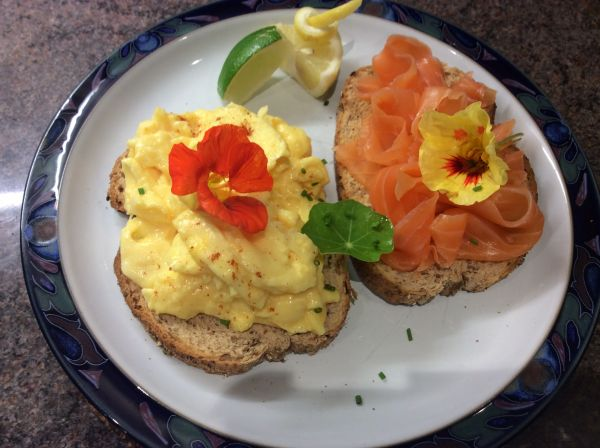 Craster Oak Smoked Salmon & Scrambled Egg