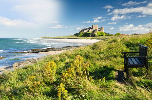 Quarry Haven, Bamburgh, Bamburgh Castle and beach