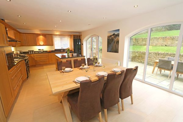 Quarry Haven, Bamburgh, spacious and light kitchen