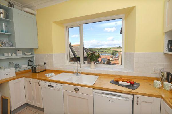 Riverside, Alnmouth, kitchen view