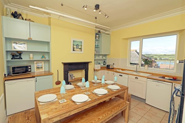 Riverside, Alnmouth, kitchen with a view