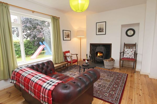 Rock Moor Farm Cottage, cosy lounge area