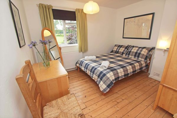 Rock Moor Farm Cottage, spacious master bedroom with views over countryside